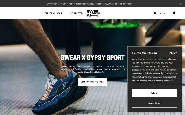 Screenshot of Swear-london