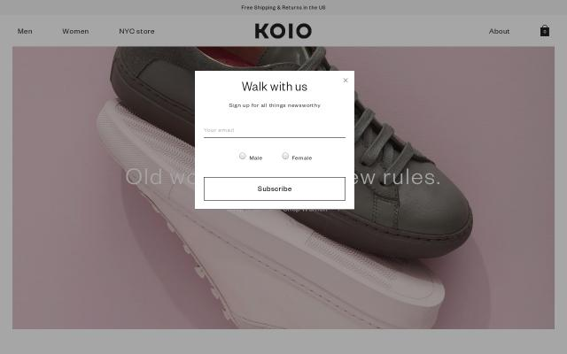 Screenshot of Koiocollective