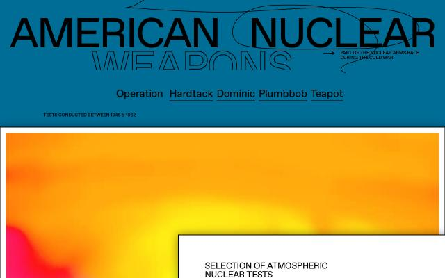 Screenshot of Nucleartests