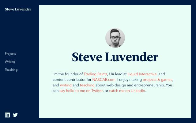 Screenshot of Steveluvender