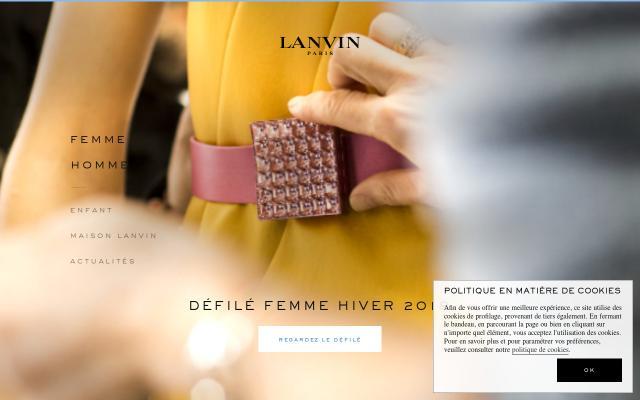 Screenshot of Lanvin