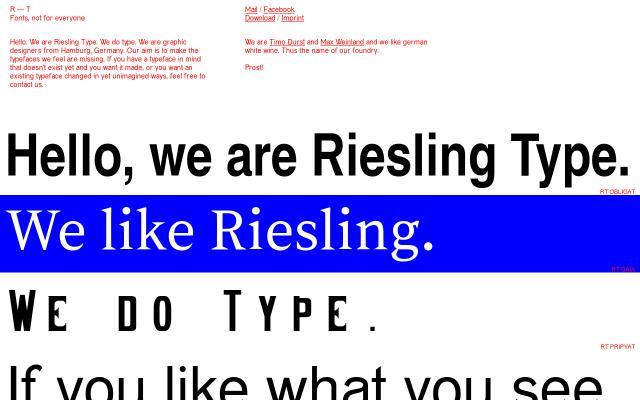 Screenshot of Rieslingtype