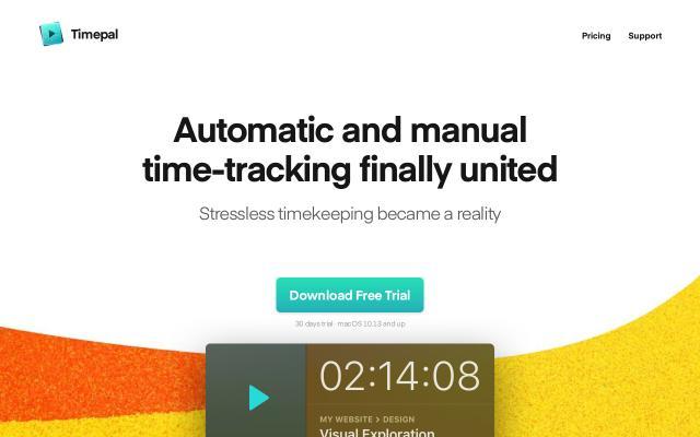 Screenshot of Timepal-app