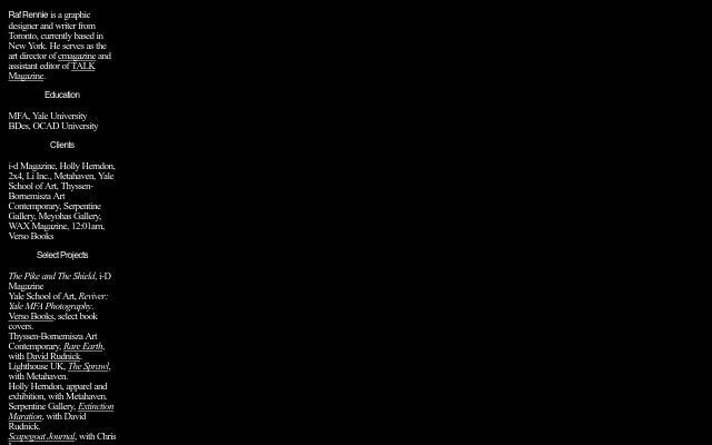 Screenshot of Rafrennie