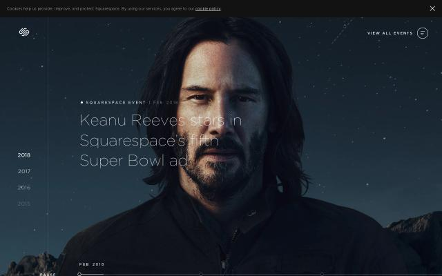 Screenshot of Squarespace