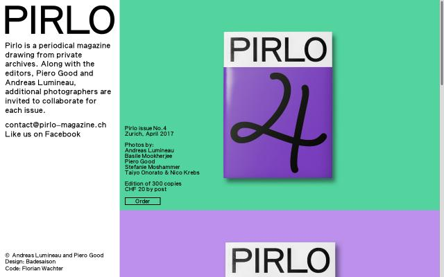 Screenshot of Pirlo-magazine