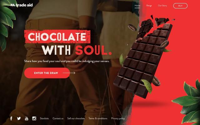 Screenshot of Tradeaidchocolate