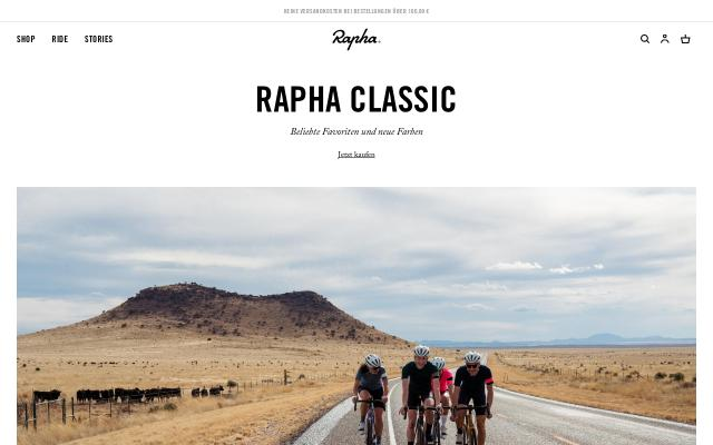 Screenshot of Rapha