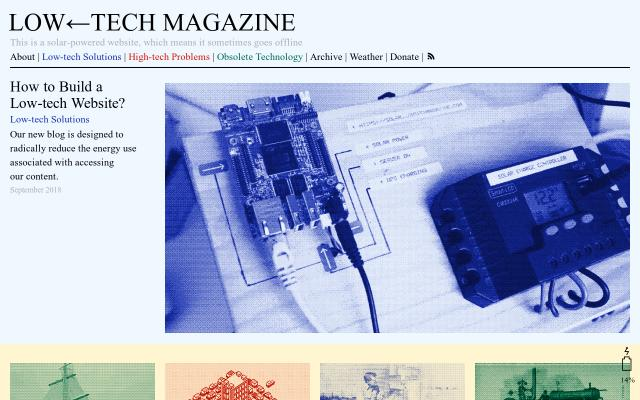 Screenshot of Lowtechmagazine