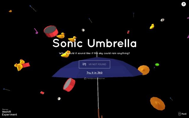 Screenshot of Sonicumbrella