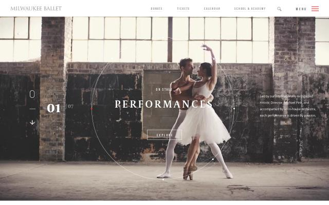 Screenshot of Milwaukeeballet