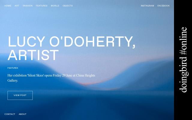 Screenshot of Doingbirdmagazine
