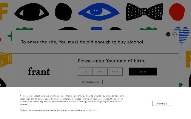 Screenshot of Frant-vodka