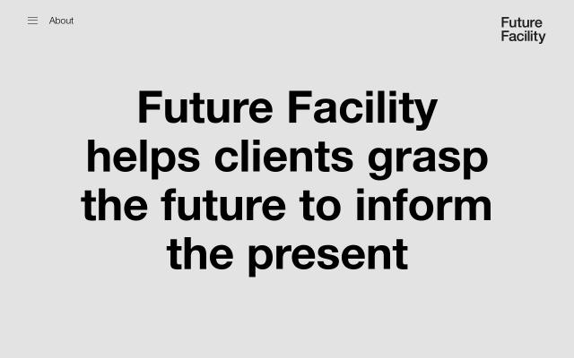 Screenshot of Futurefacility