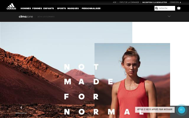 Screenshot of Adidas