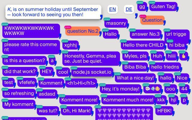 Screenshot of K-komma