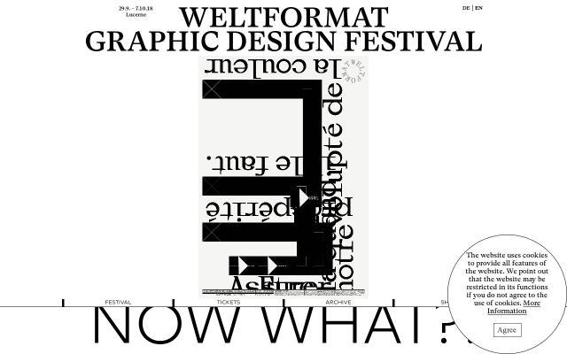 Screenshot of Weltformat-festival