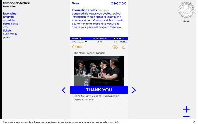 Screenshot of Transmediale