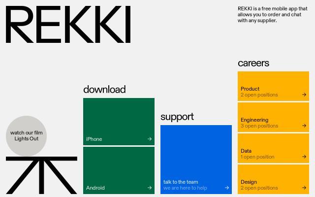 Screenshot of Rekki