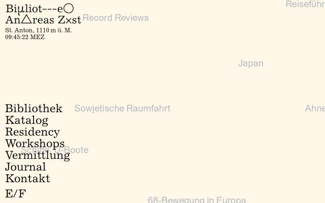 Screenshot of Bibliothekandreaszuest
