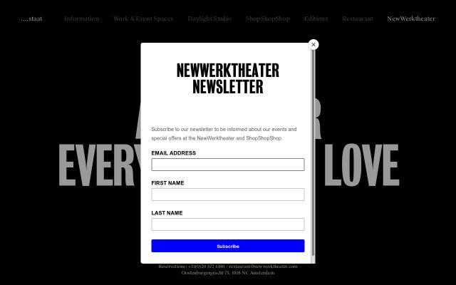 Screenshot of Newwerktheater