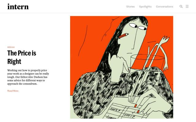 Screenshot of Intern-mag