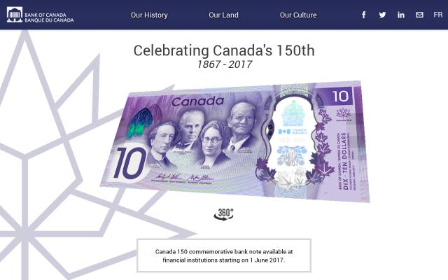 Screenshot of Bankofcanada
