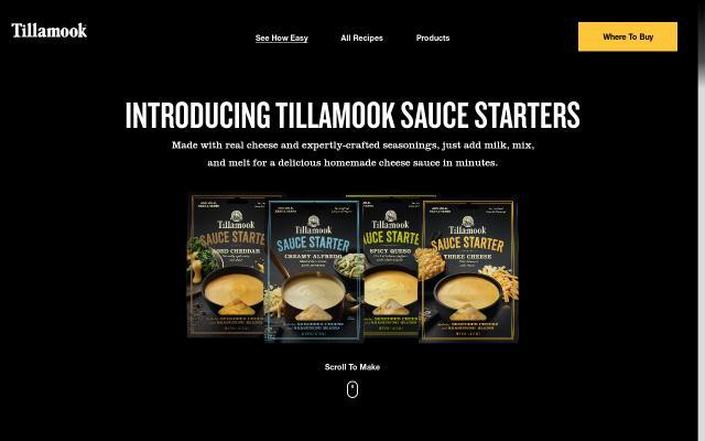 Screenshot of Tillamook