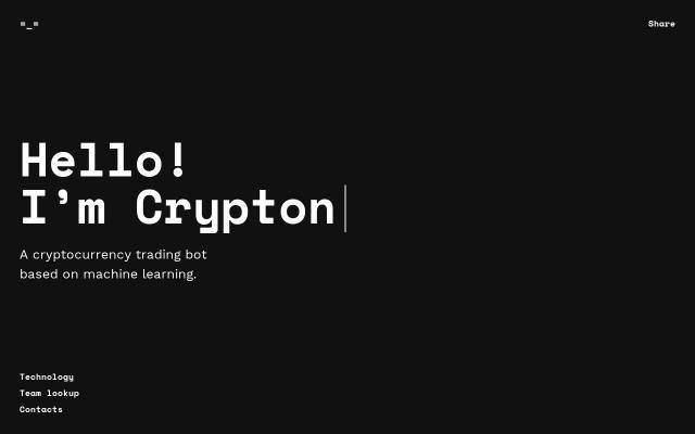 Screenshot of Crypton