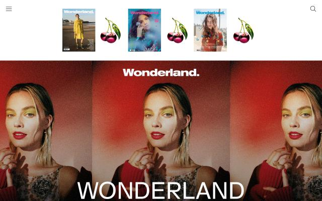 Screenshot of Wonderlandmagazine