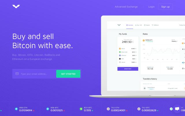 Screenshot of Coinfalcon