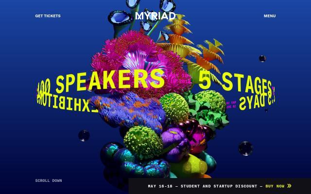 Screenshot of Myriad