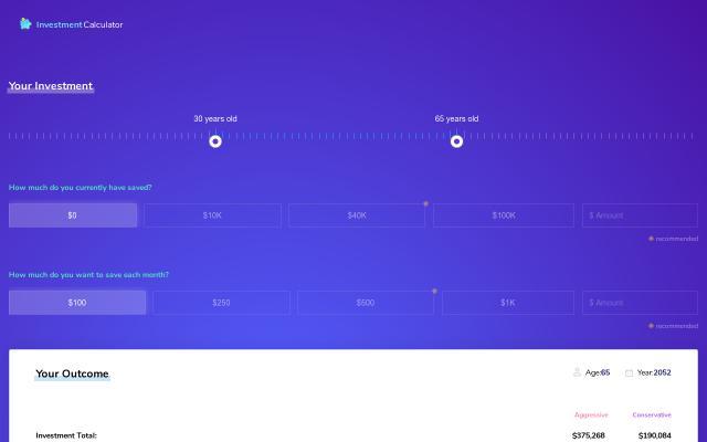 Screenshot of Investmentcalculator