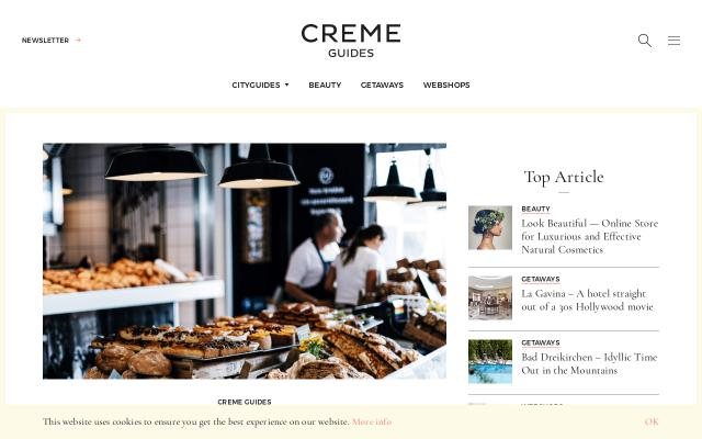 Screenshot of Cremeguides