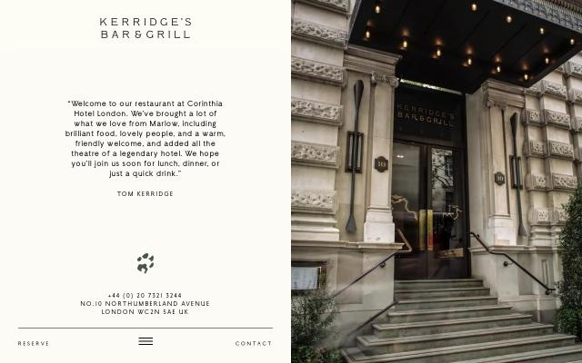 Screenshot of Kerridgesbarandgrill