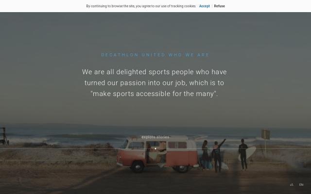 Screenshot of Decathlon-united