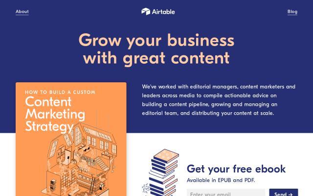 Screenshot of Airtable