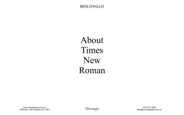 Screenshot of Molonglogroup