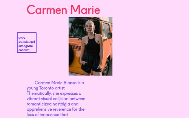 Screenshot of Carmenmarie