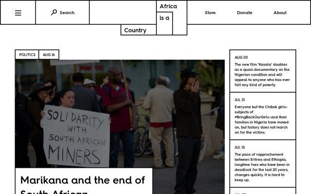 Screenshot of Africasacountry