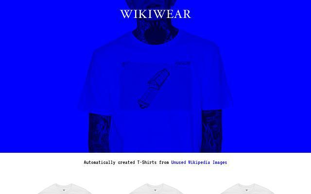 Screenshot of Wikiwear