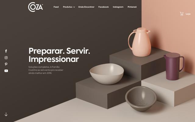 Screenshot of Coza