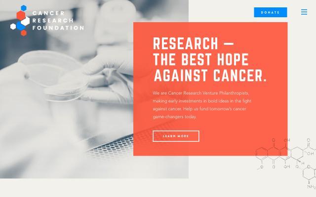 Screenshot of Cancerresearchfdn
