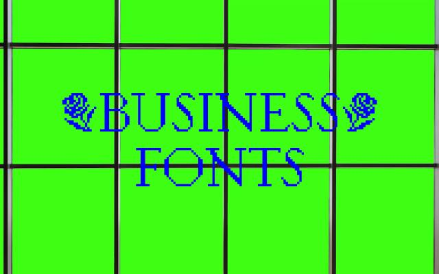 Screenshot of Businessfonts