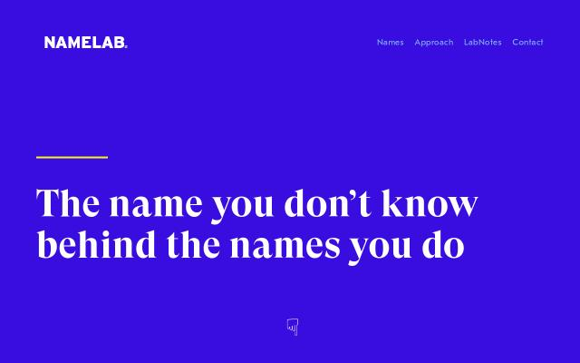 Screenshot of Namelab