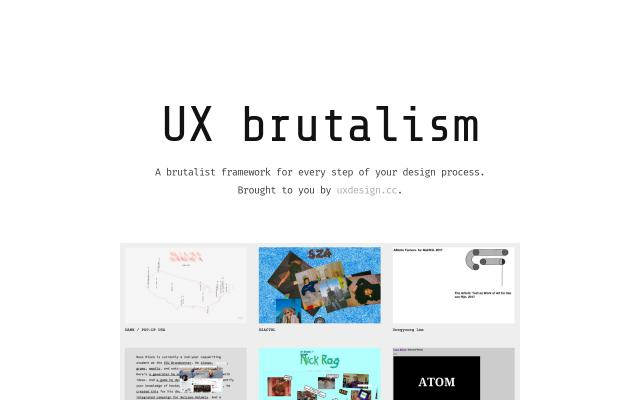 Screenshot of Uxbrutalism