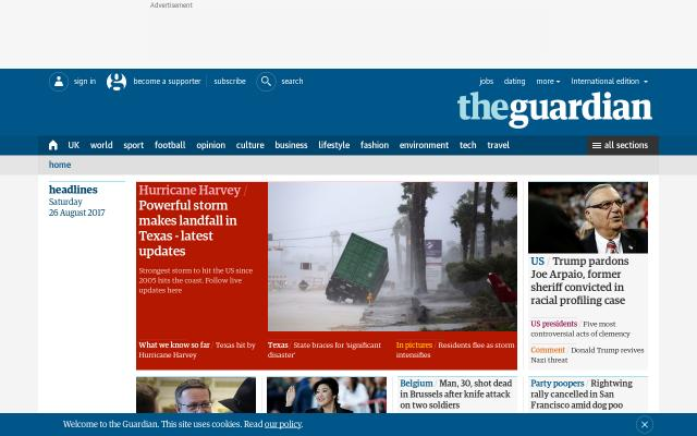Screenshot of Theguardian
