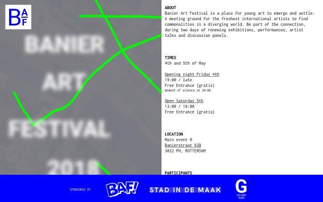 Screenshot of Banierartfestival